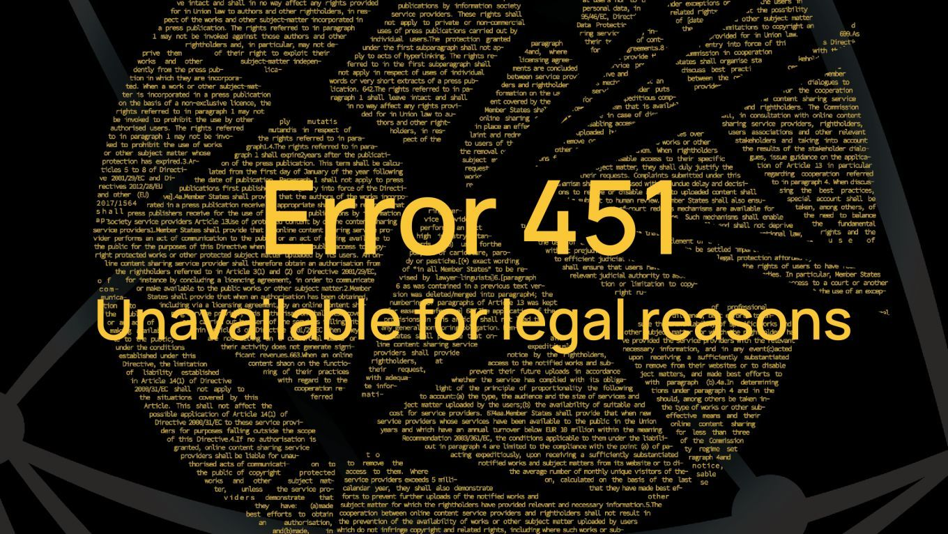 GPN19 - Error 451: Unavailable for legal reasons